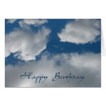 nubes del feliz cumpleaños tarjeta