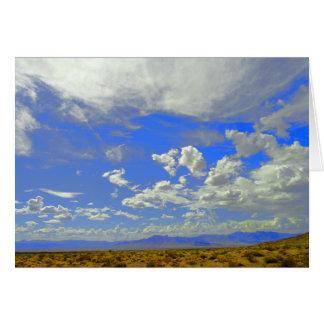 Nubes del Mojave Tarjeta De Felicitación