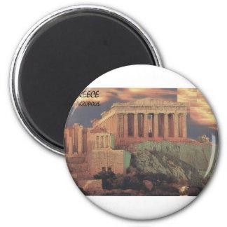 Nubes del Parthenon de Grecia Atenas (St.K) Imán Redondo 5 Cm