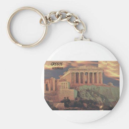 Nubes del Parthenon de Grecia Atenas (St.K) Llavero Redondo Tipo Pin