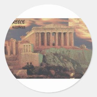 Nubes del Parthenon de Grecia Atenas (St.K) Pegatina Redonda