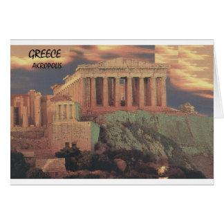 Nubes del Parthenon de Grecia Atenas (St.K) Tarjeta De Felicitación