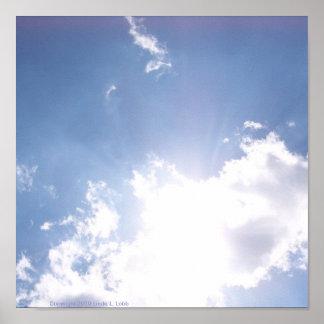 Nubes del poster de la inspiración