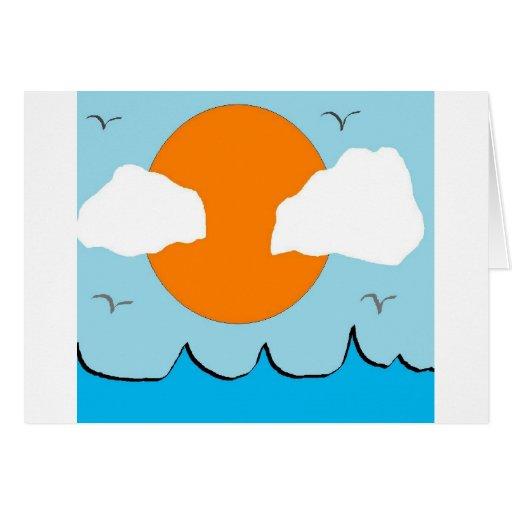 nubes del sol felicitación