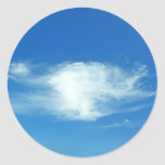 Nubes del verano pegatina redonda