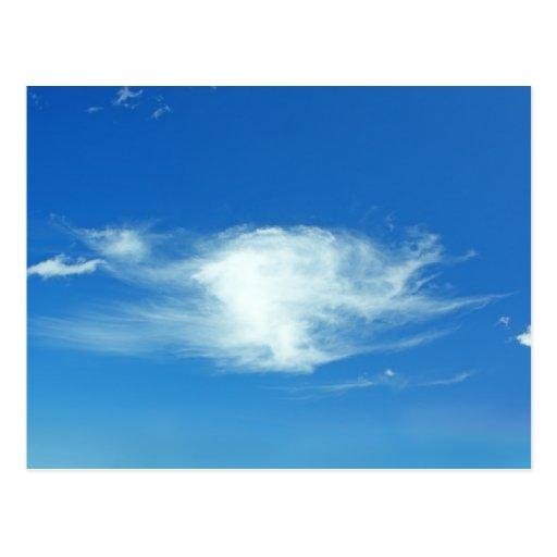 Nubes del verano tarjeta postal