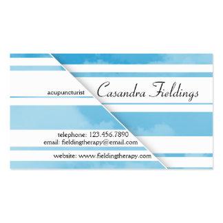 Nubes divididas - azul plantilla de tarjeta de negocio