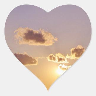 Nubes divinas calcomanía corazón personalizadas