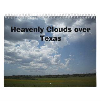 Nubes divinas sobre el calendario de Tejas