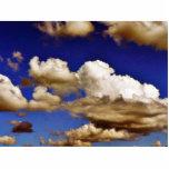 Nubes en cielo azul esculturas fotograficas