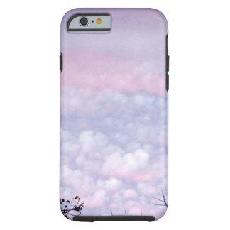 Nubes en colores pastel de la tarde del otoño funda para iPhone 6 tough