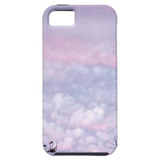 Nubes en colores pastel de la tarde del otoño iPhone 5 carcasas