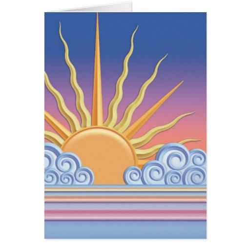 Nubes en colores pastel de Sun n Tarjetón