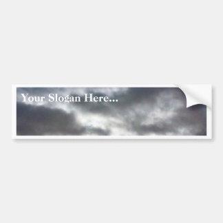 Nubes en el cielo pegatina de parachoque
