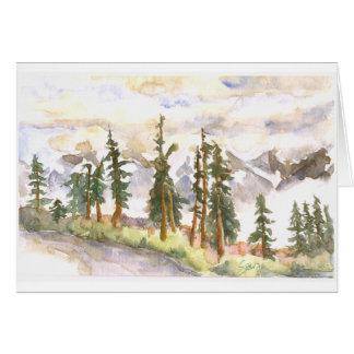 Nubes en el valle, aprecio de ahora tarjeta de felicitación