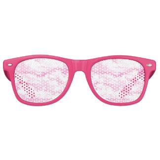 Nubes en la decoración rosada lentes de fiesta