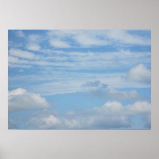 Nubes en la playa impresiones