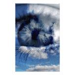 nubes en la visión papelería personalizada