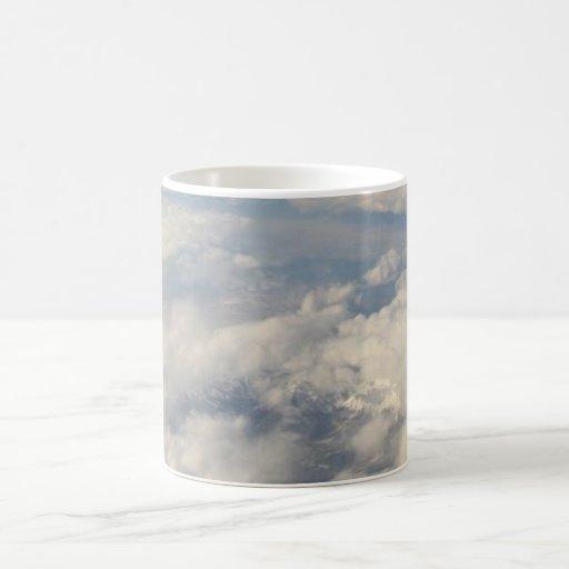 Nubes en mi café taza de café