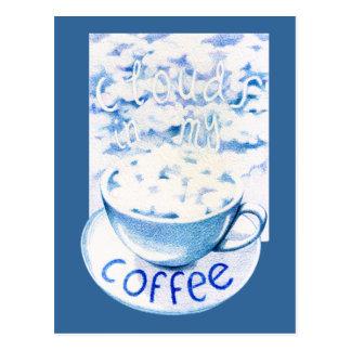 Nubes en mi postal del café