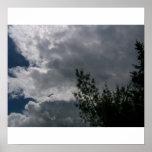 Nubes en nuevo Hampsire Poster