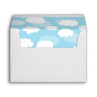 Nubes en sobres azules del trazador de líneas del