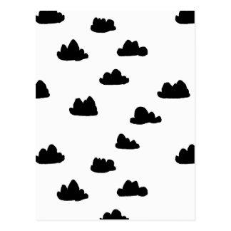 Nubes/escandinavo blanco/del negro/Andrea Lauren Tarjetas Postales