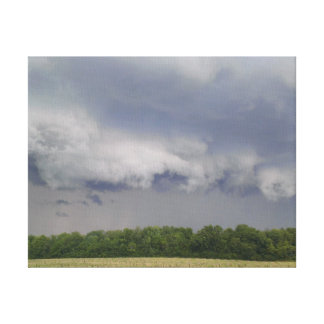 Nubes extrañas antes de la tormenta impresiones en lienzo estiradas