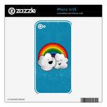 Nubes felices del arco iris calcomanías para iPhone 4S