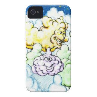 Nubes felices iPhone 4 Case-Mate cárcasa