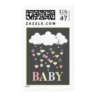 Nubes + Franqueo neutral del bebé de los pasteles Sello