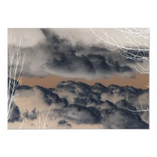 """¡Nubes! (Imagen invertida/negativa) Invitación 5"""" X 7"""""""