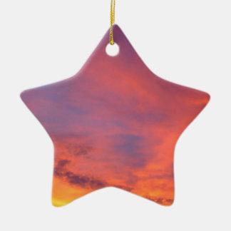 Nubes Jarenina crepuscular brillante Eslovenia Adorno Navideño De Cerámica En Forma De Estrella
