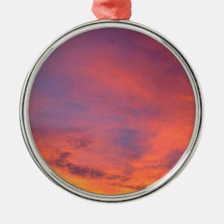 Nubes Jarenina crepuscular brillante Eslovenia Adorno Navideño Redondo De Metal