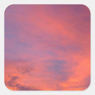 Nubes Jarenina crepuscular brillante Eslovenia Pegatina Cuadrada