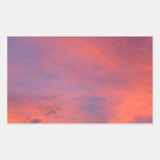 Nubes Jarenina crepuscular brillante Eslovenia Pegatina Rectangular