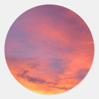 Nubes Jarenina crepuscular brillante Eslovenia Pegatina Redonda