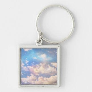 Nubes ligeras de la fantasía llavero personalizado