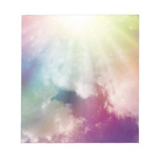 Nubes mágicas libretas para notas