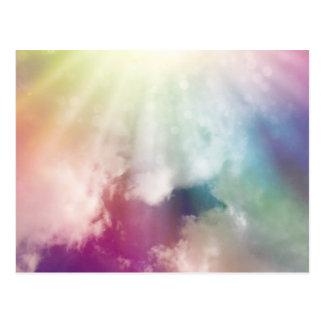 Nubes mágicas tarjetas postales