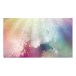 Nubes mágicas tarjetas de visita