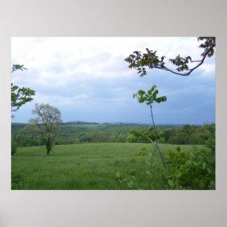 Nubes, montañas y Rolling Hills de Virginia Occide Impresiones