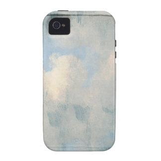 Nubes mullidas azules que pintan el fondo vibe iPhone 4 carcasas