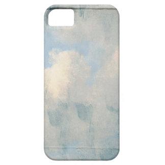 Nubes mullidas azules que pintan el fondo iPhone 5 cárcasas
