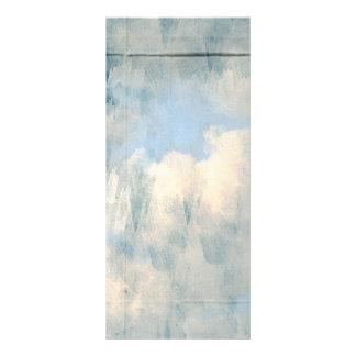 Nubes mullidas azules que pintan el fondo plantilla de lona