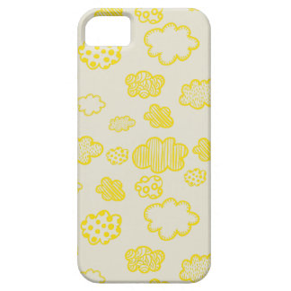 Nubes mullidas del amarillo del caramelo de funda para iPhone SE/5/5s