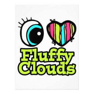 Nubes mullidas del ojo del amor brillante del cora anuncios personalizados