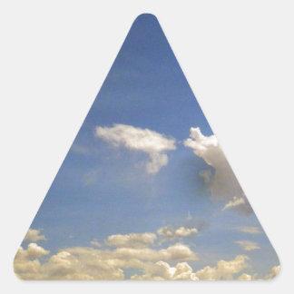Nubes Pegatina Triangular