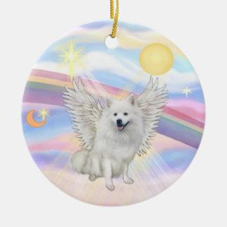 Nubes - perro esquimal americano ornamento para arbol de navidad