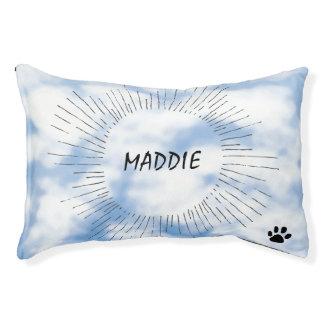 Nubes personalizadas y diseño del cielo cama para perro pequeño